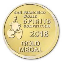 San Francisco World Spirits Competition 2018 Gold Medal