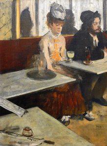 "Photograph of Edgar Degas painting ""The Absinthe Drinker"""